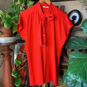 Vintage Lady Winn button down blouse